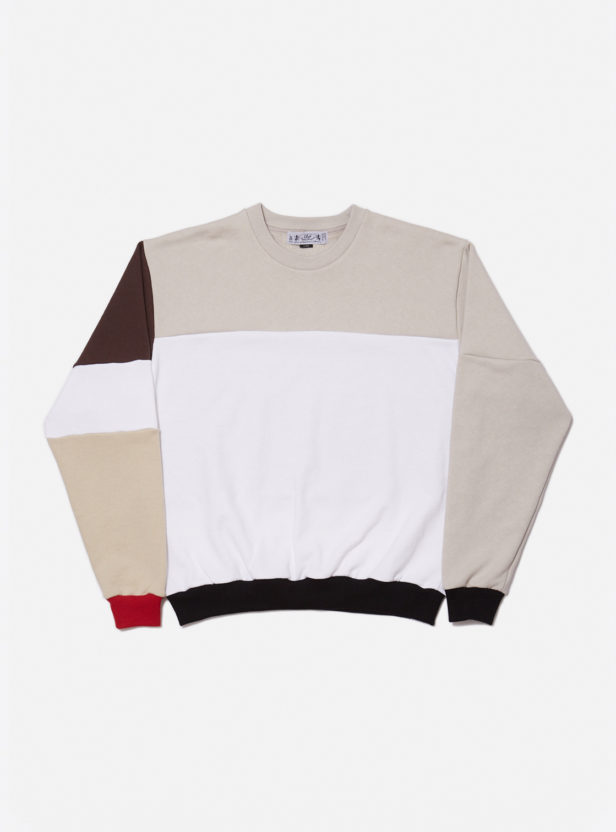 COLOR BLOCK SWEAT SWEATSHIRT