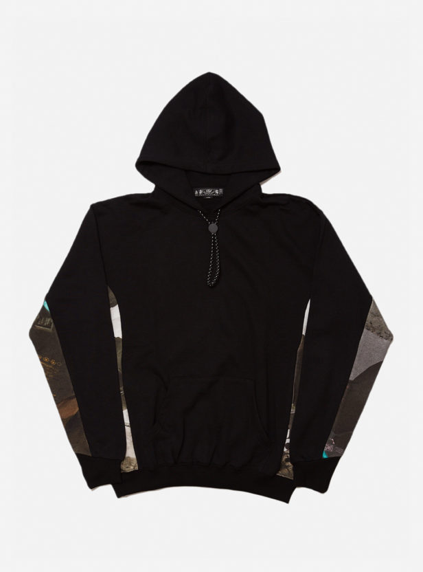 TRASH  HOODED SWEAT SHIRT