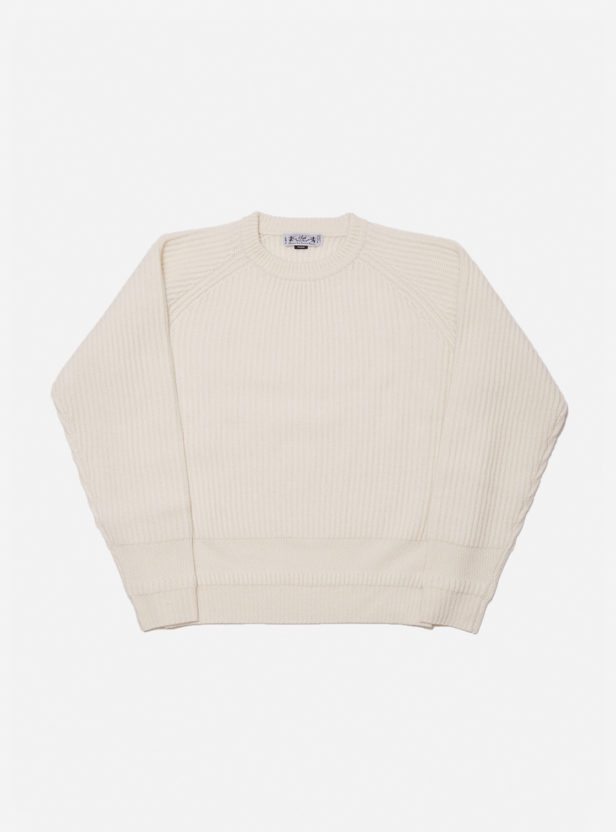 MERINO WOOL RIB SWEATER