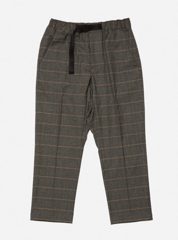 GLAN PLAID ELASTIC WAIST TROUSER