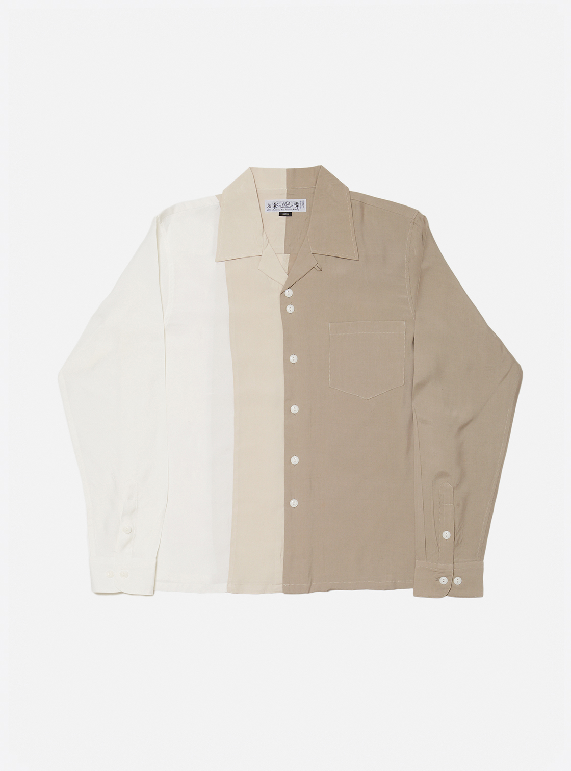 COLOR BLOCK RAYLON SHIRT