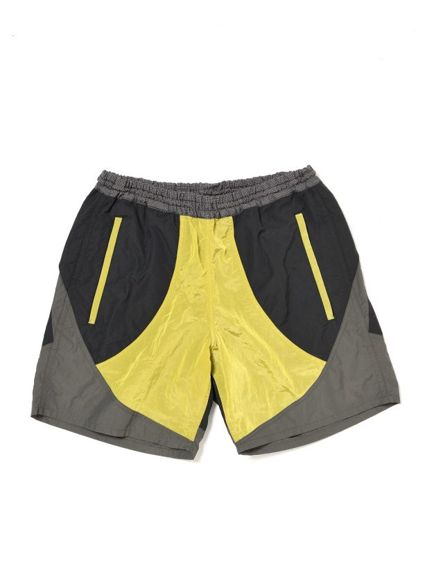 COLOR BLOCK NYLON TRACK SHORT PANT