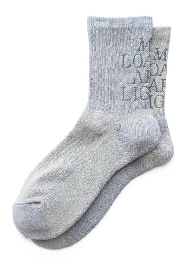 "MY LOADS ARE LIGHT ""lettered socks"""