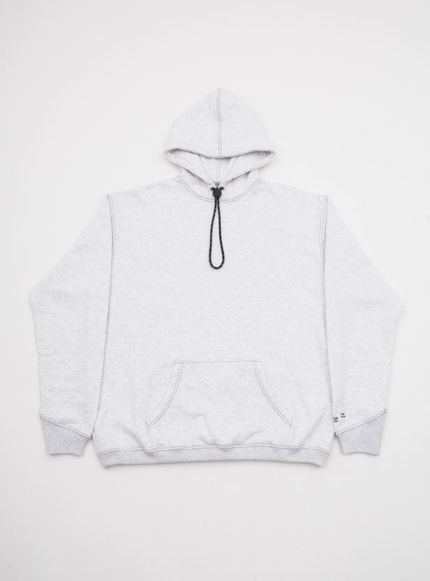 CONTRAST STITCH HOODED SWEAT SHIRT