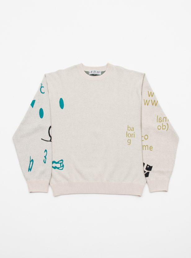 JACQUARD COTTON CREWNECK SWEATER