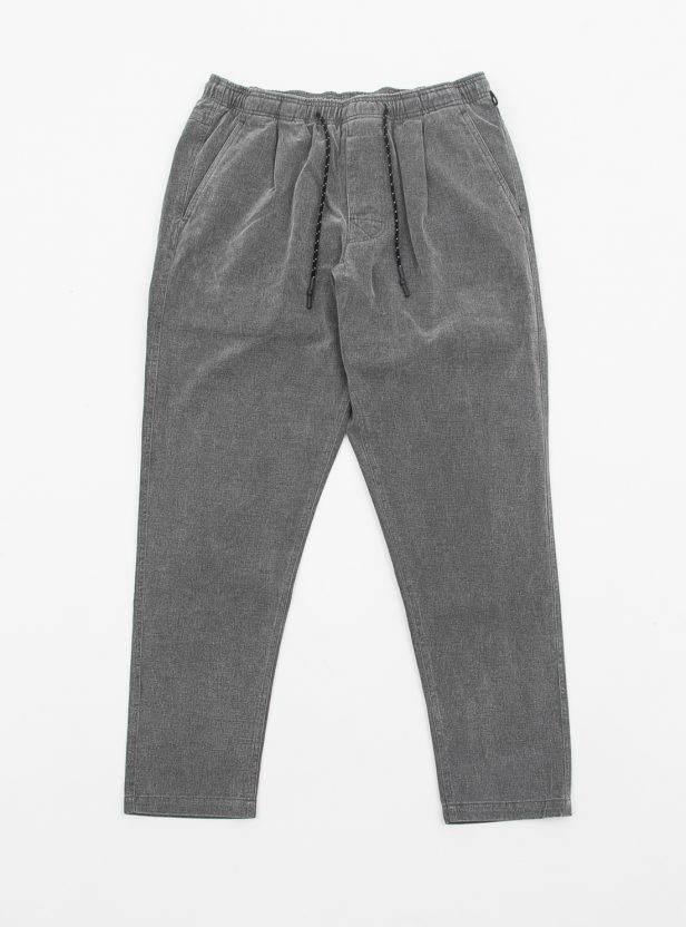 WASHED COTTON TWILL ELASTIC PANT