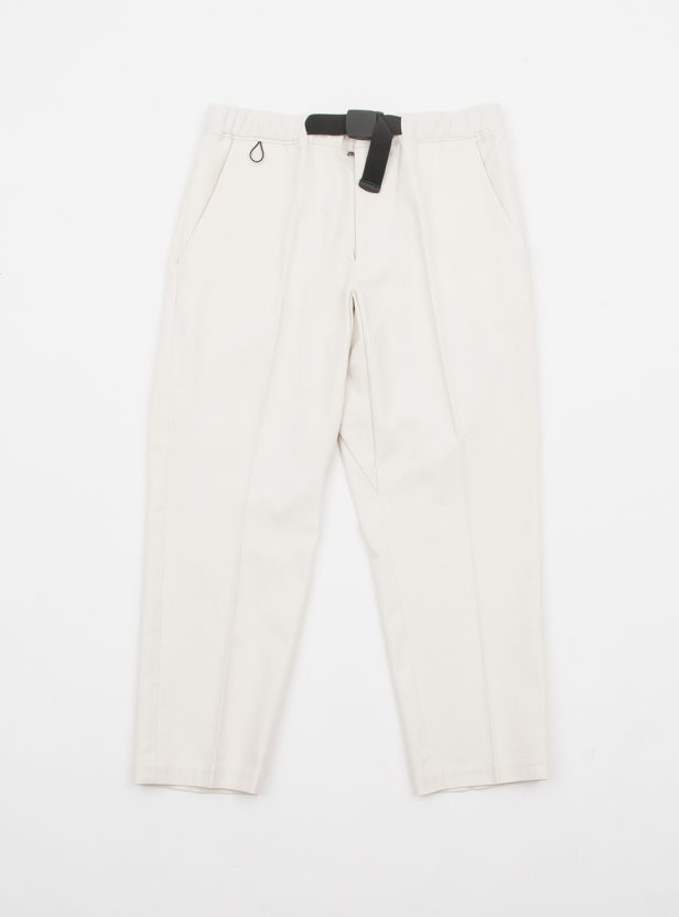 COTTON TWILL BELTED TROUSER