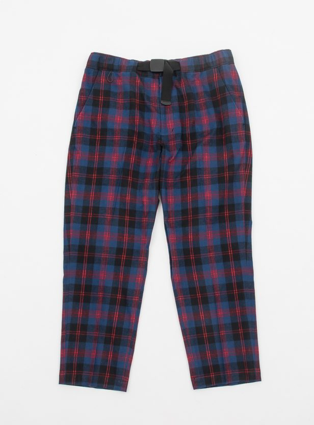 FLANNEL PLAID BELTED TROUSER
