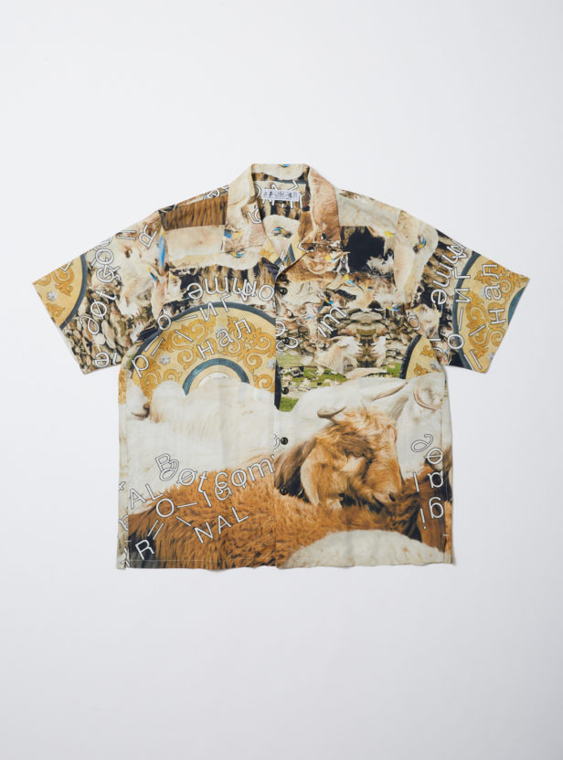 COLLAGE RAYON SS SHIRT